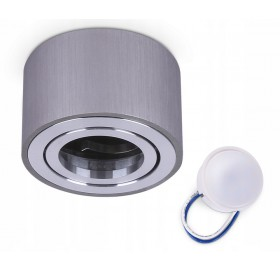 Oprawa natynkowa spot LED okrągła CHROM + żarówka LED 5W