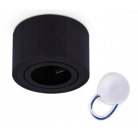 Oprawa natynkowa spot LED okrągła CZARNA + żarówka LED 5W