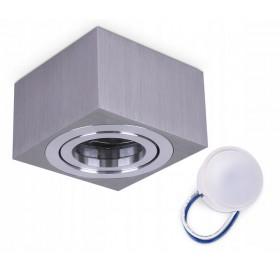 Oprawa natynkowa spot LED kwadrat CHROM + żarówka LED 5W