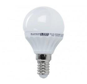 Żarówka LED E14 kulka 7,5W biała ciepła