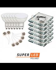 Atrakcyjne zestawy SuperLED - 6 kompletów oprawek GGU10 z żarówkami LED