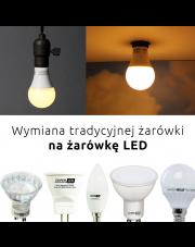 Wymiana tradycyjnej żarówki na żarówkę LED